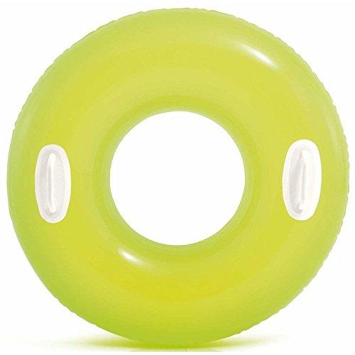 Lively Moments Schwimmring / Schwimmreifen mit Griff neonfarben ca. 76 cm in Neongelb