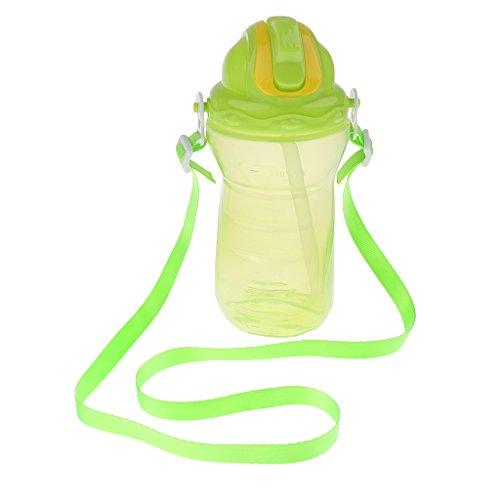 Kind Silikon Trinkflasche Kleinkind Kleinkind Stroh Auslauf Tasse - Grün (Stroh Tassen Für Kleinkinder)