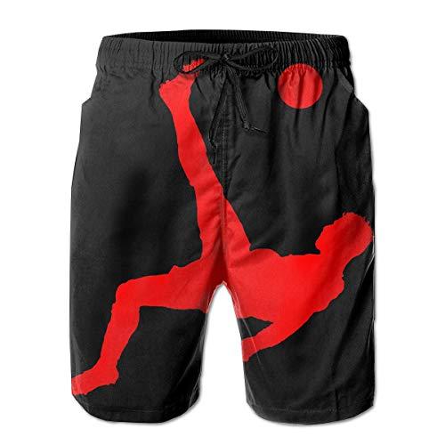 Air Ronaldo CR7 Schnelltrocknende Badehose für Herren Beach Shorts Board Shorts XL