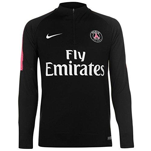 Nike bambini paris saint germain–dry squad drill maglietta a maniche lunghe, bambini, 894397-011, black/hyper pink/white, m