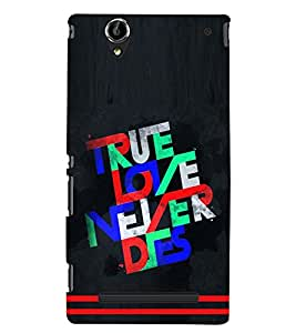 printtech True Love Back Case Cover for Sony Xperia T2 Ultra::Sony Xperia T2 Ultra Dual