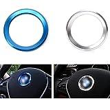 Auto Aria Condizionata Anelli Radio Volume Button Ring Covers Decorativo Cerchio Trim Alta Partita Blu e Argento Serie 320gt5 x1x3x4x5x6