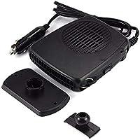 Konesky 12V 150W Calentador de Autos Calentamiento rápido portátil descongela rápidamente Defogger Ceramic Vehicle Auto Cooling Fan versión