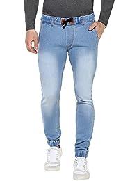 Urbano Fashion Men's Light Blue Slim Fit Stretchable Jogger Jeans