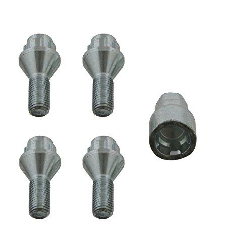 febi bilstein 27047 Radschraubensatz M12 x 1,5; 50 mm abschließbar (Vorderachse, Hinterachse)