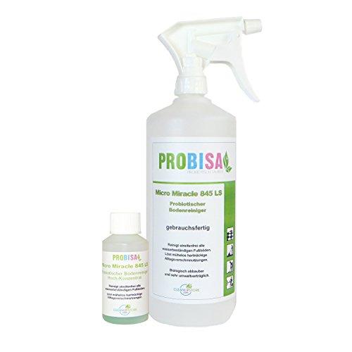 Bio-Bodenreiniger, Teppichreiniger und Polsterreiniger Spray Probisa Micro Miracle LS 845 (50ml Konzentrat ergeben 1-2 Liter gebrauchsfertigen Fußboden-Reiniger)