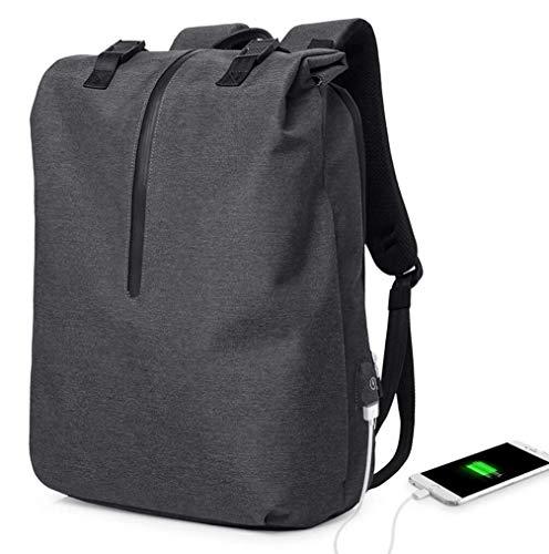 Mr. Xiong Laptop Rucksack Anti Theft, 15,6 Zoll Business Travel Work Computer Rucksack mit USB-Ladehafen, Durable Large Fach Wasser Resistant College School Taschen für Men/Women/Teens/Boys,Gray