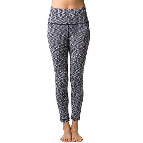 AHAYAKU Damen Hohe Taille Und Enge Fitness Yoga Hose Nude Hidden Pocket Yogahose