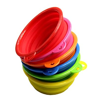 HeroNeo® Dog Cat Pet Portable Silicone Collapsible Travel Feeding Bowl Water Di. 2