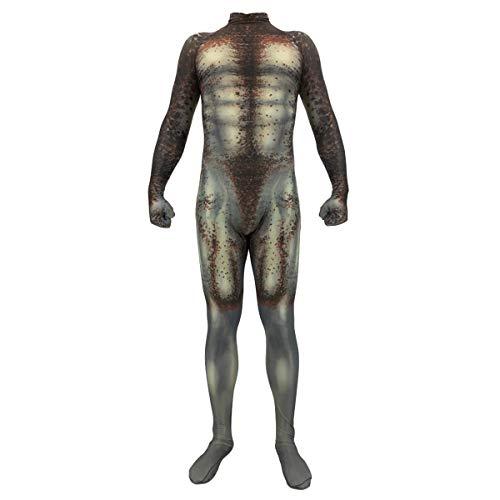 QQWE Predator Battle Suit Kostüm Cosplay Kostüm Halloween Halloween Bühnenkleidung Bodysuit Spandex Overalls,Adult-XXXL (Halloween Spandex Bodysuit)