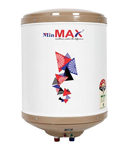 MINMAX ECO-EG 2KVA 25 Liter 5 Star Storage Water Geyser with ABS TOP Bottom and Safety VALVES,3 Years Warranty,Vertical Mode Geyser,Storage Geyser,5 Star Rating Water Heater,Capsule Type Tank