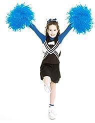 Vibeey Pom Pom Confezione da 12 Pom Pom da Cheerleader, 9.8 Pollici Sport Danza Allegria Accessori Cheerleader per Bambini, Fiori inodore Cheerleader Pompon per Le Festa Danza tifo
