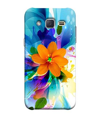 PrintVisa Designer Back Case Cover for Samsung Galaxy J1 Mini Prime (Abstract Illustration Floral Leaf Colorful Decorative Vector Graphic)