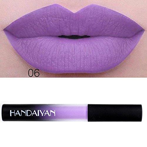 ESAILQ 10ml Wasserdicht langlebig flüssigen samt Matte Lippenstift Make up Lipgloss Lip (F)