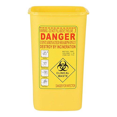 Container, Tattoo Kunststoff Kanülenabwurfbox Biohazard Entsorgung 1L-Größe Box -