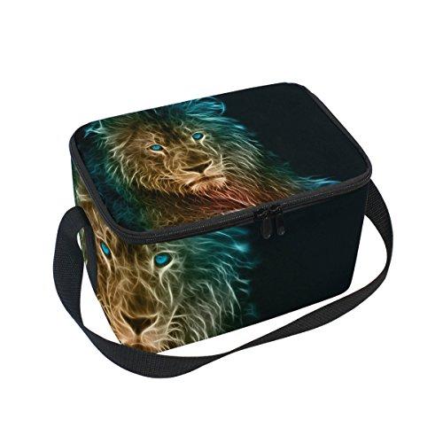 Fierce African Lion Isolierte Lunchtasche, Kühltasche, wiederverwendbar, für Outdoor-Reisen, Picknick-Taschen