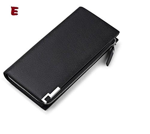 Mann geldbörse,Lange brieftasche,Leder - wallet,HANDY - tasche (A) E
