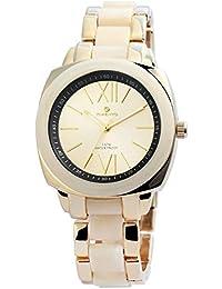 Reloj analógico Timento, de metal, diámetro de 44 mm, oro - 510004000027