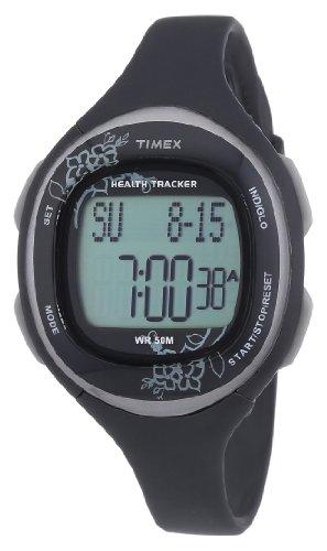 Timex T5K486 - Reloj digital de cuarzo para mujer con correa de plástico, color negro