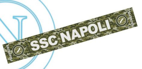 SCIARPA SSC NAPOLI UFFICIALE in acrilico SCARF OFFICIAL BUFANDA (MIMETICA)
