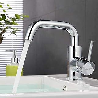 ubeegol 360° Drehbar Wasserhahn Bad Armatur Waschtischarmatur Waschbeckenarmatur Badarmatur Waschtisch Mischbatterie Waschbecken Einhebelmischer
