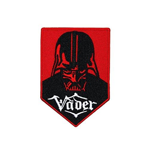 Athena Darth Vader Rot und Schwarz Bestickt Nähen Patches Applikation ()