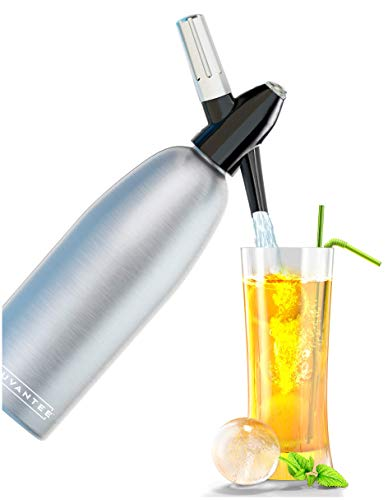 Innovee Soda-Siphon – Der beste Sodasprudler – Aluminium – 1 Liter + Cocktail Rezepte Ebook – Bereiten Sie Sprudelwasser mit Leitungswasser oder aus der Flasche vor – Bereiten Sprudelwasser vor wann Sie es vollen – benötigt Standard-CO2 Kapseln (nicht enthalten) - 3