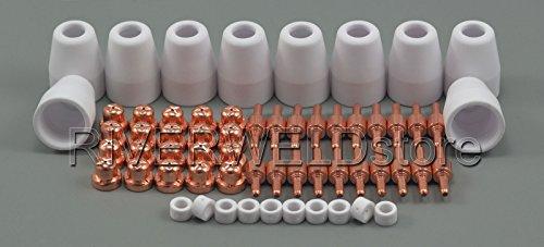 60pcs PT-31 LG-40 Plasma Elektrode Schneiddüse Keramikdüse Ausschnitt-Verbrauchsmaterialien Für CUT50D CUT-40 CT-312