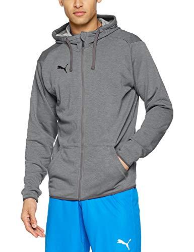 PUMA Herren Liga Casual Hoody Jacket Jacke, Medium Gray Heather Black, XL