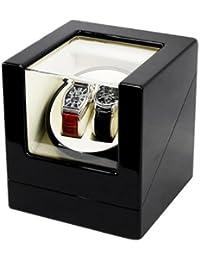 Watch Winder (1 motor 2 relojes) Black-Cream. Caja movimiento relojes automaticos