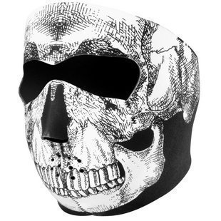Neoprene Motorcycle Full Face Skull Mask Balaclava Reversible