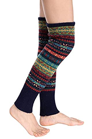 Avidlove Women Knee High Socks Winter Bohemian Boot Cuffs Knit Crochet Leg Wa...