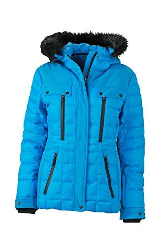 James & Nicholson Damen Jacke Jacke Wintersport Jacket blau (Aqua/Black) Large