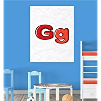 Alphabet G Nursery Children Educational Early Learning Poster Print Wall Art preiswert