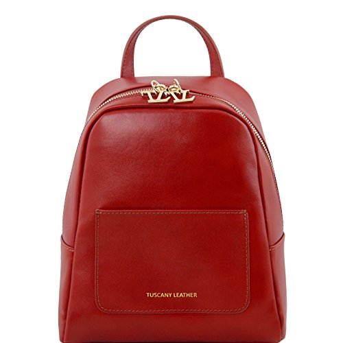 81416144 - TUSCANY LEATHER: TL BAG - Petite sac à dos en cuir pour femme, rouge