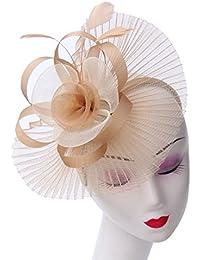 LUCKY Leaf Las mujeres chica tocados pelo Clip Horquilla sombrero boda  coctel Tea Party sombrero de 13258c52d060