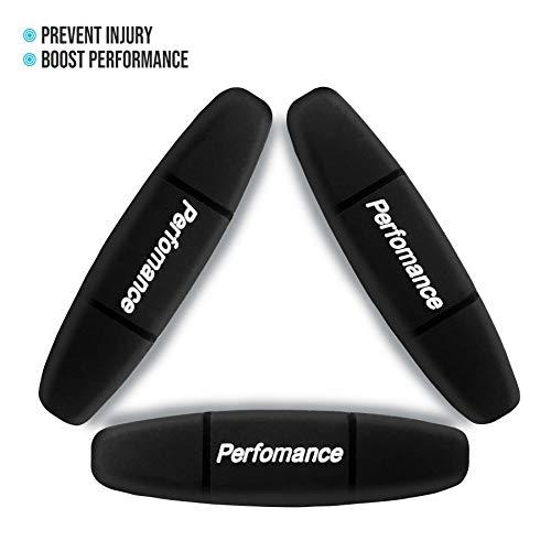 Alien Pros Performance Tennisschläger-Dämpfer (3 Stück) Schwarz - perfekte Tennisstoßdämpfer stabilisieren Ihre Saiten für optimale Leistung - Tennis-Dämpfer-Set (3 Stück) schwarz