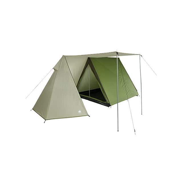 10T Outdoor Equipment Waterproof Mungaro Unisex Outdoor Frame Tent available in Grey - 3 Persons 1