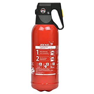Jockel Feuerlöscher PS2JM Mini-Dauerdruck-Feuerlöscher, 2 kg, ABC-Pulver,