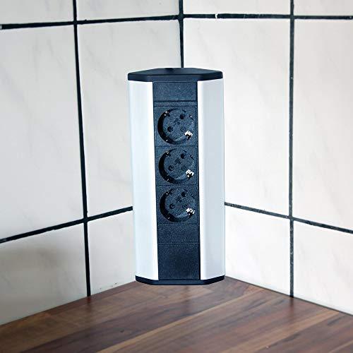 Steckdose für Küche und Büro - Ecksteckdose