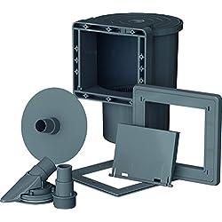 Gre AR100G - Skimmer standard, válvula de impulsión, color gris
