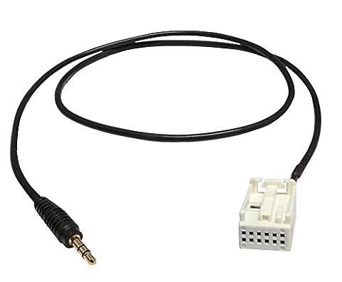 Aerzetix C4326 Adaptateur Câble Jack AUX, 3.5
