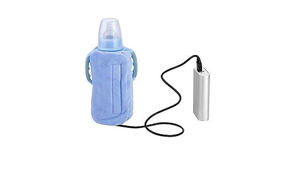 Crystal Velvet Usb Tragbare Abnehmbare Reise Becher Milchw/ärmer Heizung Flasche Heizung Babyflasche Aufbewahrungstasche Sicher Blau Flasche Beheizt Abdeckung