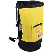 Magideal Portador de Bolsa de Pelota para Voleibol Fútbol Baloncesto - Amarillo