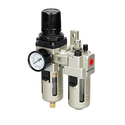 """ECD Germany Filtro separador de agua y aceite para compresor 1/4"""" 10 Bar 1,0 MPa Regulador de presión Reductor de presión"""