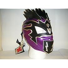 Kalisto, maschera da wrestling per bambini con chiusura a zip, colore: viola scuro