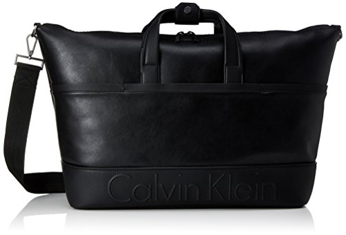 Calvin Klein Bennet Weekender, 001, Os, Sacs de plage homme, Black, 20x50x38 cm (W x H L)