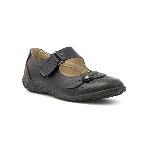 Cushion Walk Womens Black Leather Comfort Bar Shoe - Size 4 UK...