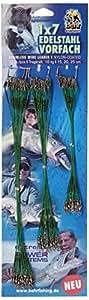 Behrfishing - Terminale d'acciaio per pesca al luccio/pesce persico/lucioperca, 1 x 7 fili inossidabili (nylon), 72 pezzi, 15 cm/20 cm/25 cm - 10 kg