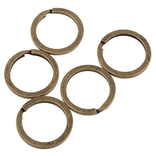Baoblaze 50 Teile Großhandel Schlüsselanhänger öffnende Spaltringe für DIY-Projekt, Orangize Schlüssel, Handy-Zubehör Crafting - Antikes Cyan